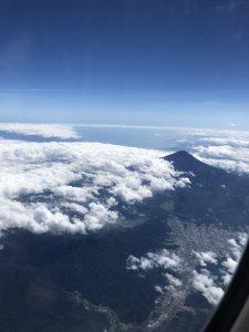上から富士山🗻
